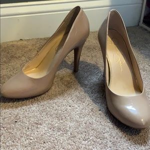 Tan pumps